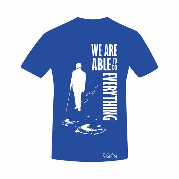 Tricou cu mesaj – We Are Able To Do Everything - Albastru marin